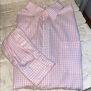 Peter Millar checkered button down in pink & white